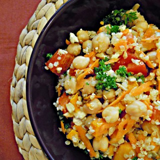 Quinoa, Chickpea and Roasted Yam Salad