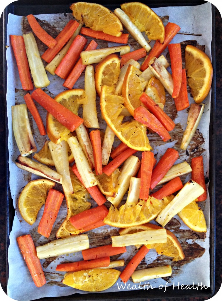 orange roasted carrots