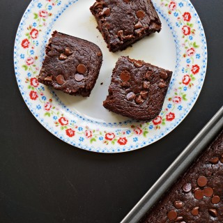 Chocolatey Chia Avocado Black Bean Brownies